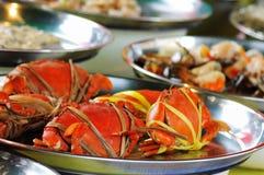 fångar krabbor försäljningen thailand Royaltyfria Bilder