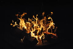 Fångat i en flamma Arkivfoto