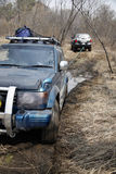 fången klibbad jeepmud Royaltyfri Fotografi