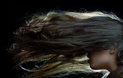 fånget hår mig long ve Royaltyfri Foto