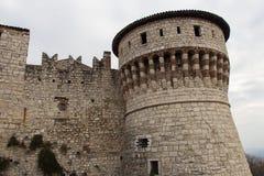 Fångetorn av den Brescia slotten, Lombardy, Italien fotografering för bildbyråer