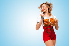 Fångna öl arkivbild