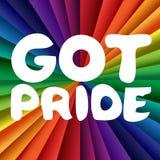 Fångna Pride Banner Arkivbilder