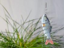 Fångstredskapet och fiske lockar arkivbild