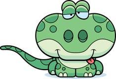 Fånig gecko för tecknad film Royaltyfria Bilder