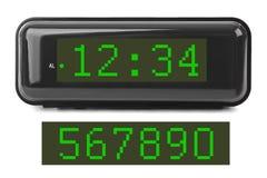 får den digitala siffrapåfyllningen för klockan bara onödigt övre för ljusdiod rakt till Royaltyfri Foto