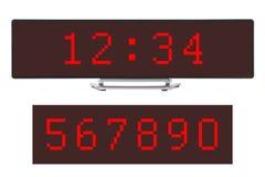får den digitala siffrapåfyllningen för klockan bara onödigt övre för ljusdiod rakt till Royaltyfri Fotografi