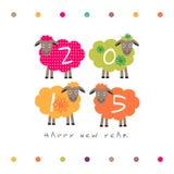 Får för lyckligt nytt år 2015 Stock Illustrationer
