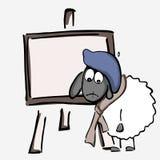 Får konstnär stock illustrationer