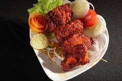 Fårköttet Tikka är en indier/en pakistansk maträtt royaltyfri foto