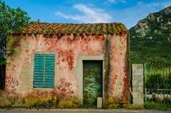 Fårlantgård i Sardinia, Italien Royaltyfria Bilder