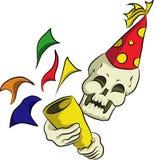 Fårskallen firar partiet för det nya året Royaltyfria Bilder