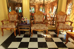 Fåtölj för tre classic Royaltyfri Bild