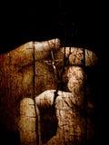 Fé de madeira rachada Fotos de Stock