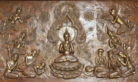 A fé e a opinião na Buda Imagens de Stock