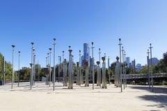 Fédération Bells près d'au sol de cricket de Melbourne photographie stock