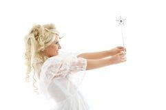 Fée avec la baguette magique magique Photos libres de droits
