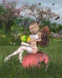 Fée de jardin de Pâques Photo stock