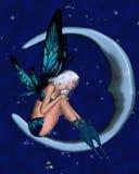 Fée de lune avec le fond étoilé - 2 illustration libre de droits
