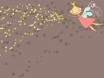 Fée et étoiles douces illustration de vecteur