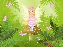 Fée magique dans la forêt Photo stock