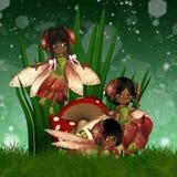 Fées mignonnes d'Afro-américain Images stock