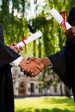 Félicitation avec l'obtention du diplôme Photographie stock