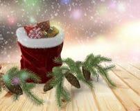 Félicitation avec Noël et la nouvelle année 2017 Image stock
