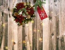 Félicitation avec Noël et la nouvelle année 2017 Photographie stock