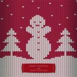 Félicitation de vacances - Joyeux Noël et bonne année Image stock