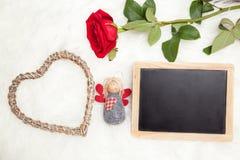 Félicitation le jour de valentines Photographie stock