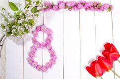 Félicitation le 8 mars Photographie stock libre de droits