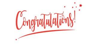 Félicitations illustration stock