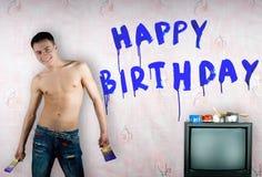 Félicitations avec l'anniversaire Photos stock