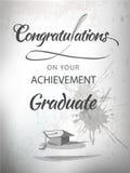 Félicitations d'obtention du diplôme Images libres de droits