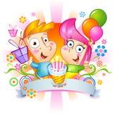 Félicitations de joyeux anniversaire Illustration Stock