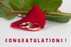 Félicitations de mariage Image libre de droits