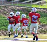 Félicitations de touchdown Photographie stock libre de droits