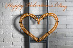 Félicitations le jour du ` s de valentine de l'électricien Photo stock