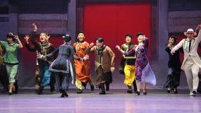 Félicitez l'acte d'amis-Le d'abord des événements de drame-Shawan de danse du passé Photos libres de droits