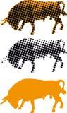 Féria espanhola Sevilha de Bull Fotos de Stock Royalty Free