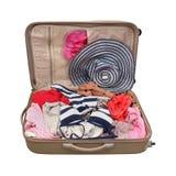 Férias da mala de viagem Foto de Stock