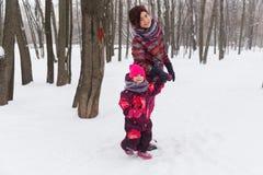 Férias da mamã e da filha foto de stock