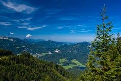 Férias da montanha no lago em Áustria Fotografia de Stock Royalty Free