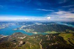 Férias da montanha no lago em Áustria Fotos de Stock