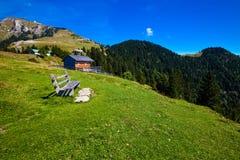 Férias da montanha no lago em Áustria Fotografia de Stock