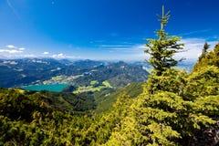 Férias da montanha no lago em Áustria Imagens de Stock Royalty Free