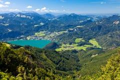 Férias da montanha no lago em Áustria Imagem de Stock Royalty Free