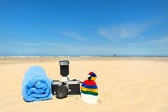 Férias da praia no Dutch Terschelling Imagens de Stock