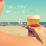 Férias da primavera, aqui nós vamos Imagens de Stock